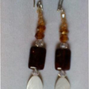 orecchini coda di pavone 0136